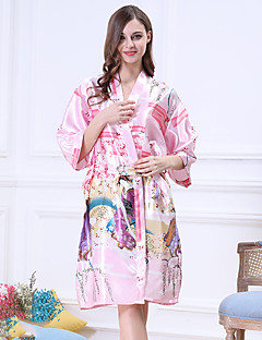 baratos Pijamas Femininos-Mulheres Decote V Chemise & Camisola Pijamas Côr Sólida