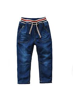 billige Drengebukser-Drenge Ensfarvet Bomuld Bukser