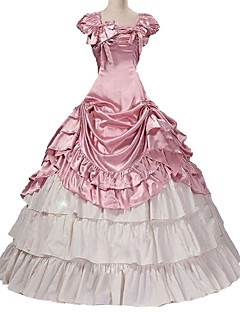 Rococo Victorian Costume Women s Outfits Pink Vintage Cosplay Taffeta Short  Sleeve Puff   Balloon Sleeve Plus Size Customized b599efae3c4e