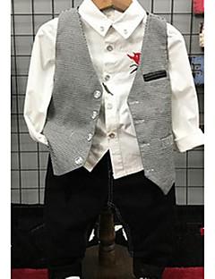 tanie Odzież dla chłopców-Komplet odzieży Inne Dla chłopców Codzienny Jendolity kolor Wiosna Jesień Długi rękaw Gray