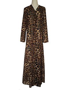 baratos Costumes étnicas e Cultural-Vestido árabe Abaya Vestido Kaftan Mulheres Fashion Festival / Celebração Roupa Arco-íris Estampado