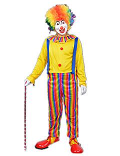 levne -Burlesque / Klaun Cirkus Cosplay Kostýmy Kostým na Večírek Pánské Dámské Karneval Festival / Svátek Halloweenské kostýmy Duhová Barevné
