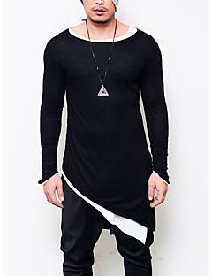 povoljno Muška moda i odjeća-Majica s rukavima Muškarci - Punk & Gotika Klub Jednobojni Okrugli izrez Pamuk