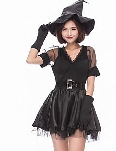 billige Halloweenkostymer-Trollmann / heks Halloween Karneval Oktoberfest Festival / høytid Halloween-kostymer Drakter Svart Fargeblokk Dyr Vampyrer