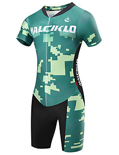 cheap Triathlon Clothing-Malciklo Men's Short Sleeves Tri Suit - Green Camouflage British Bike Quick Dry, Breathable, Spring Summer, Lycra