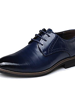 cheap -Men's Formal Shoes Leather / Cowhide Spring / Fall Oxfords Black / Brown / Blue / Party & Evening