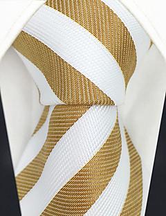 billige Slips og sløyfer-menns festverk rayon slips - stripet fargeblokk jacquard