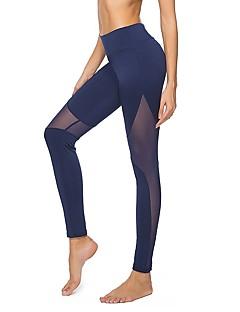 billige Løbetøj-Dame Sport Tights / Leggins Yoga, Træning & Fitness, Løb Yoga & Danse Sko, Hurtig Tørre Høj Elasticitet Sort, Mørkeblå, Grå Hul