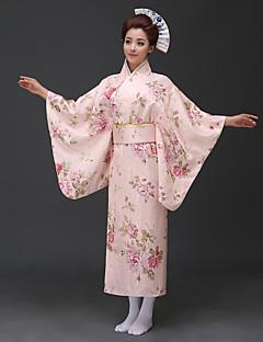 tanie Etniczne & Cultural Kostiumy-Cosplay Sukienki Kimono Damskie Festiwal/Święto Kostiumy na Halloween Blue Pink Red Kwiatowy/roślinny Tradycyjny / Classic Kimona