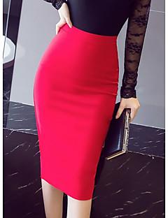billige Kvinde underdele-Dame Havfrue Bodycon Nederdele - Arbejde Ensfarvet