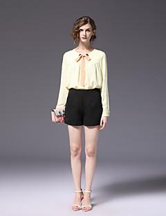 billige Bukser-Dame Store størrelser Tynn Bootcut Shorts Bukser Ensfarget