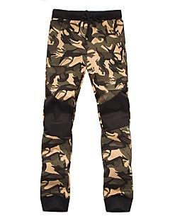 billige Herrebukser og -shorts-menns vanlige midterstigning, mikro-elastiske skinnybukser, enkle, aktive patchwork-kamuflasje polyester / bomulls bomull / nylon med et