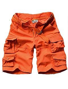 billige Herrebukser og -shorts-Menns aktive pluss størrelse bomullsløse chinos shortsbukser - solid farget kamuflasje