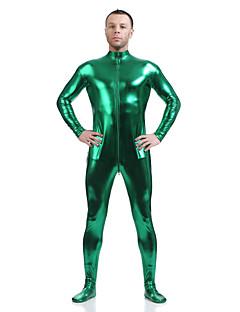 billige Zentai-Zentai Drakter Ninja Zentai Cosplay-kostymer Mørkegrønn Ensfarget Zentai Spandex Lim Herre Dame Halloween Maskerade