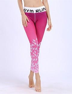 billige Løbetøj-BARBOK Dame Yoga bukser - Rosa Sport Farvegradient Tights Løb, Fitness, Træningscenter Sportstøj Åndbart, Hurtigtørrende Elastisk