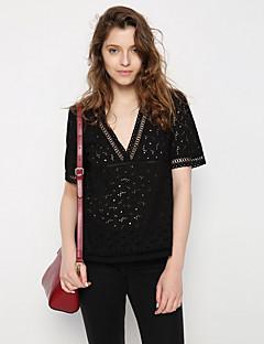 billige T-shirt-V-hals Dame - Ensfarvet Gade T-shirt