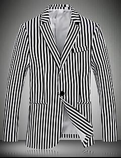 お買い得  メンズジャケット&コート-男性用 ブレザー スリム ストライプ プリント