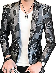 billige Herremote og klær-Trykt mønster Blazer-Geometrisk Aktiv Herre