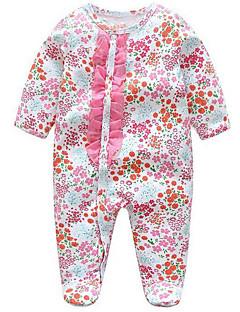billige Babytøj-Baby Pige En del Daglig Geometrisk, Polyester Forår Langærmet Simple Lyserød