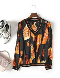 economico Top da donna-T-shirt Per donna Moda città Con stampe,Fantasia geometrica Monocolore