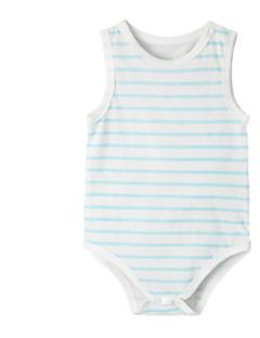 billige Babytøj-Baby Unisex En del Daglig Stribet, Bomuld Sommer Uden ærmer Sødt Blå Grøn Lyserød Grå Gul