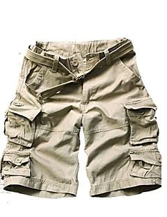 billige Herrebukser og -shorts-Herre Aktiv Store størrelser Bomull Løstsittende Chinos / Shorts Bukser Ensfarget / Kamuflasje / Sport