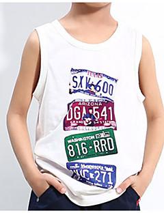billige Tøjsæt til drenge-Drenge Daglig Sport Ensfarvet Tøjsæt, Polyester Forår Sommer Uden ærmer Basale Hvid
