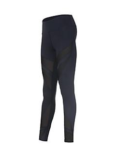 billiga Träning-, jogging- och yogakläder-Dam Nät Tights för jogging - Svart sporter Cykling Tights / Leggings Sportkläder Snabb tork