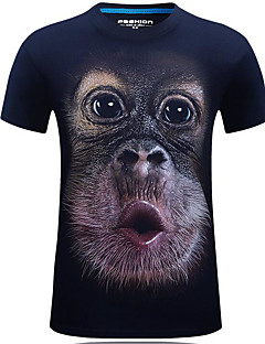 billige Herremote og klær-Rund hals T-skjorte - Geometrisk, Trykt mønster Herre