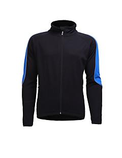 billige Sykkeljerseys-Jaggad Herre Langermet Sykkeljersey - Blå Helfarge Sykkel Jersey, Pustende Nylon Elastisk