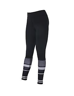 billige Løbetøj-Dame Løbetights - Sort Sport Trykt mønster, Printer Modal Tights / Leggins Yoga, Fitness, Træningscenter Sportstøj Hurtigtørrende