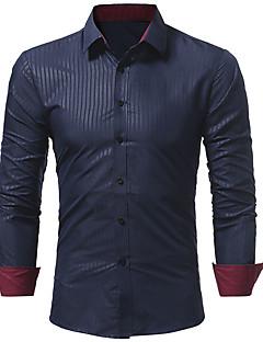 お買い得  メンズシャツ-メンズビジネスビジネスプラスサイズナイロンスリムシャツ - ソリッドシャツの襟