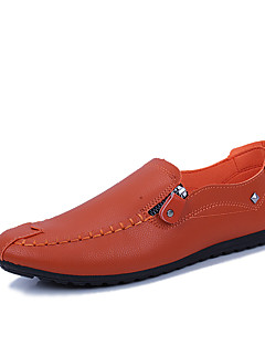 Χαμηλού Κόστους -Ανδρικά Comfort Loafers PU Άνοιξη / Φθινόπωρο Ανατομικό Μοκασίνια & Ευκολόφορετα Αντιολισθητικό Λευκό / Μαύρο / Πορτοκαλί