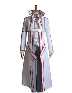 """billige Anime Kostymer-Inspirert av Sword Art Online SAO Kirito Swordman Cosplay Anime  """"Cosplay-kostymer"""" Cosplay Klær Annen Langermet Frakk Topp Bukser"""