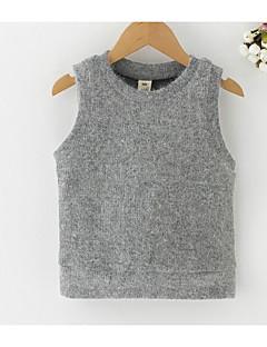 tanie Odzież dla dziewczynek-Tanktop / koszulka na ramiączkach Poliester Dla dziewczynek Codzienny Jendolity kolor Wiosna Bez rękawów Prosty Gray