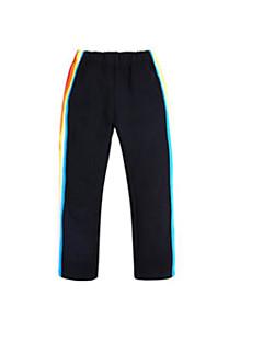 billige Bukser og leggings til piger-Pige Bukser Daglig Ensfarvet, Bomuld Hør Bambus Fiber Akryl Forår Uden ærmer Simple Sort