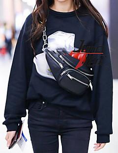 tanie Damskie bluzy z kapturem-Damskie Długi rękaw Bluzy - Geometryczny