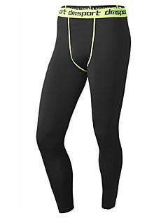 billige Løbetøj-Herre Løbetights / Træningsleggings - Sort, Grå, Sort / Grøn Sport Tights Sportstøj Komprimering, letvægtsmateriale