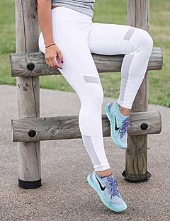 billige Løbetøj-Dame Yoga bukser Sport Ensfarvet Net Tights Løb, Fitness, Træningscenter Sportstøj Åndbart, Hurtigtørrende Elastisk