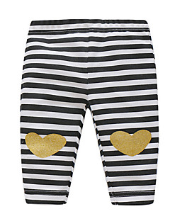 billige Babytøj-Baby Pige Bukser Daglig Stribet, Bomuld Forår Afslappet Basale Regnbue