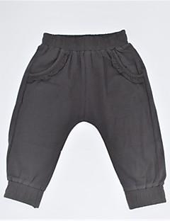 billige Bukser og leggings til piger-Pige Bukser Daglig Ensfarvet, Bomuld Forår Sommer Afslappet Sort Mørkegrå