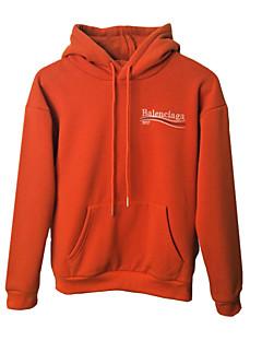 billige Hættetrøjer og sweatshirts til piger-Pige Hættetrøje og sweatshirt Daglig Ferie Ensfarvet, Bomuld Spandex Forår Langærmet Simple Aktiv Sort Rød