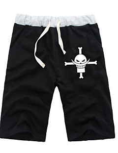 """billige Anime Kostymer-Inspirert av One Piece Monkey D. Luffy Anime  """"Cosplay-kostymer"""" Cosplay Topper / Underdele Ensfarget Animé ½ Pant Shorts Til Alle"""