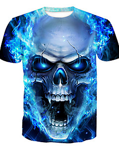 billige Plus Størrelser-Herre-Herre-Dødningehoveder Trykt mønster Basale T-shirt