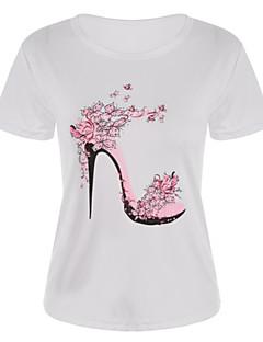 Χαμηλού Κόστους Γυναικείες Μπλούζες-Γυναικεία T-shirt Βασικό Φλοράλ Στάμπα
