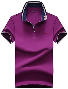 お買い得  メンズポロシャツ-男性用 Polo ビジネス ベーシック ソリッド レタード