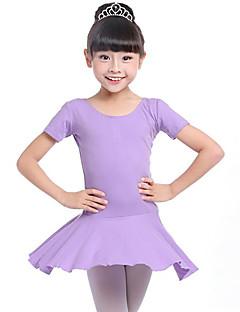tanie Stroje baletowe-Balet Suknie Dla dziewczynek Szkolenie Wydajność Bawełna Zgnioty Długi rękaw Naturalny Ubierać