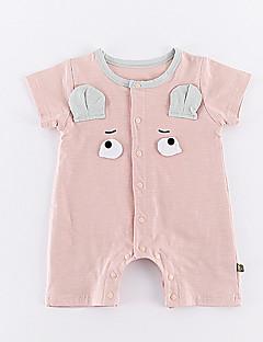 billige Babytøj-Baby Pige Geometrisk Kort Ærme En del