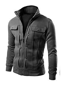 baratos Abrigos e Moletons Masculinos-Homens Moda de Rua Jacket Hoodie Sólido