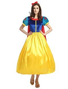 billige Voksenkostymer-Prinsesse Kostume Unisex Halloween Halloween Karneval Barnas Dag Festival / høytid Drakter Gul Ensfarget Halloween